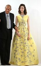 Oscar de la Renta Floral Embroidered Gown SZ US 8 - NWOT