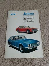 Jensen Interceptor & FF Series II 1969-71 UK Foldout Sales Dealer Brochure