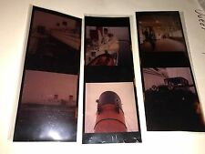 Queen Mary Photo Transparency Lot Life Boat Bell