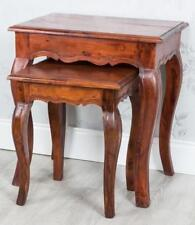 Antique Style Solid Wood No Assembly Required Nested Tables