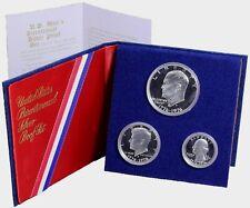 1976 US Bicentennial Proof 3 Coin 40% Silver Set Kennedy, Eisenhower, Washington