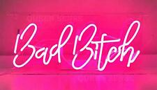 "Bad Bitch Neon Light Sign Lamp Acrylic 14"" Glass Bedroom Beer Bar Glass Decor"
