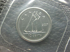 """2007 Canadian Prooflike Dime ($0.10) - Curved """"7"""""""