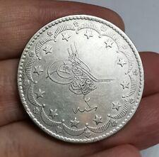 Ottoman Empire Abdul Aziz 1861-1876 Silver 20 Kurus Coin 1869 aXF