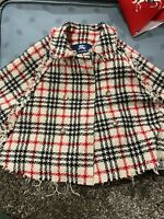 Genuine Burberry girls wool  poncho cape (size 5 years) limited edition