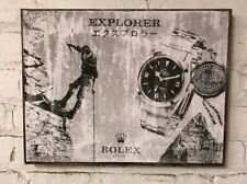 Rolex Explorer Vintage ad   Distressed design for home decor