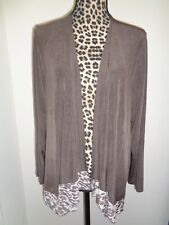 Travelers by Chico's Mochachino Dot Leopard Mesh Trim Jacket Size 3 (XL) NWT