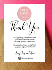 More details for a6 personalised thank you for your order custom cards, supporting small business