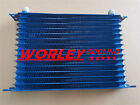 Universal 15 Row An10 Engine Transmission 262mm Oil Cooler Blue