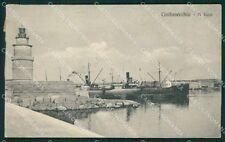 Roma Civitavecchia Faro Barche cartolina XB0467