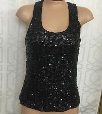 Alice And Olivia  Top Black Sequined Tank Size Xs