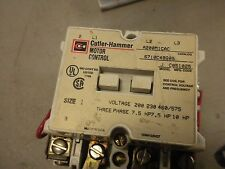 Cutler-Hammer Motor Control Starter Model J Size 1 A200M1CAC