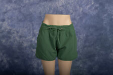 Lucy Activewear Green Elastic Waist Running Workout Shorts Sz M