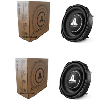 "TWO JL AUDIO 10TW3-D4 Dual 4 Ohm 10"" SHALLOW SLIM MOUNT SUBWOOFERS NEW  250MM"
