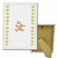 KISS THE MISS GOODBYE HEN NIGHT DO PARTY GAME GIFT TEAM BRIDE TO BE ADD FRAME