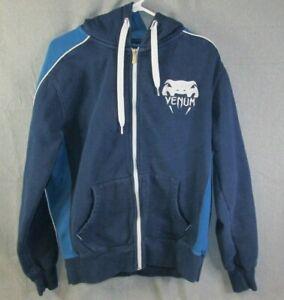 VENUM HOODIE Blue Full Zip Jacket Sweatshirt Medium