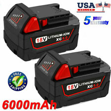 (Qty 2) For Milwaukee M18 Lithium XC 6.0 AH Extended Capacity Battery 48-11-1852
