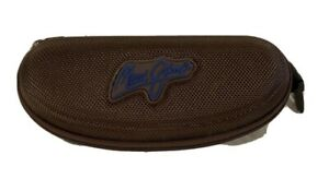 Maui Jim Sunglasses Case - Brown Zippered w/ Pouch Cloth Bundle. FREE SHIPPING!!