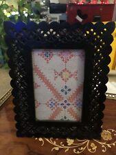 "Black Lattice Lace Wood 4""x 6"" Picture Frame"
