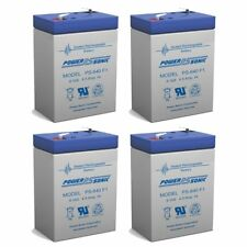 Power-Sonic 4 Pack - 6V 4.5Ah PS-640, PS640F1, UB645 Replacement SLA Battery NEW