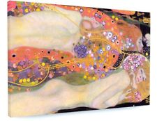 GUSTAV KLIMT Water Serpents II CANVAS PICTURE PRINT CHUNKY FRAME LARGE #A295