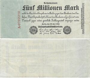 Germany Banknote - 5 Funf Millionen Marks from 1923