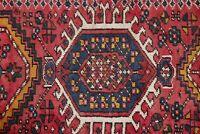"Antique Geometric Tribal Gharajeh Heriz Narrow Runner Rug Wool 7' 10"" x 1' 8"""
