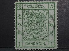 CHINA CHINE 1878 LARGE DRAGON 1C Fine used