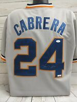 Miguel Cabrera Detroit Tigers Signed Jersey JSA Letter Of Authenticity  (JSY27)