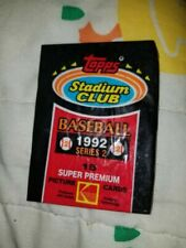 Topps Stadium Club 1992 Series 2 Baseball Cards Factory