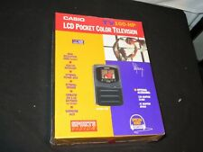 Vintage Casio TV-100HP Portable Color TV 1.6 LCD NEW SEALED Headphones Included