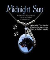 MIDNIGHT SUN BLACK LAB NECKLACE DOG LABRADOR RETRIEVER ART PUP PET- FREE SHIP L'