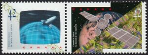 3D = HOLOGRAM at left = Canada in SPACE = se-tenant pair MNH VF = 1992 #1442a