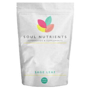 Sage Leaf 800mg 120 Tablets - Sage Tablets For Menopausal Symptoms and Insomnia