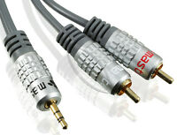 10m Klinke Cinch AUX Audio Kabel 3,5mm Klinkenstecker auf 2* Chinch RCA Stecker