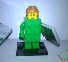 Lego Mini Figure Green Brick Costume Guy (Series 20  71027)