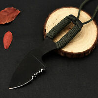Outdoor Necklace Fixed Knife Mini EDC Survival Serrated Blade Knives With Sheath