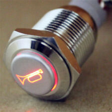 Car Boat LED Light Waterproof-Momentary Horn Metal Push Button Switch 12V  AYH