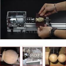 100W DIY Fundamental Wood Lathe Mini Lathe Machine Cutting Polisher Table Saw
