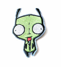 Invader Zim Gir green dog alien embroidered iron on patch 94mm tall