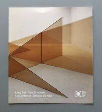 LARRY BELL New Sculpture Arco Center Catalog 1983 Al Bengston Frank Stella Judd
