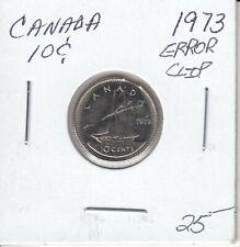 CANADA 10 CENTS 1973  ERROR CLIP