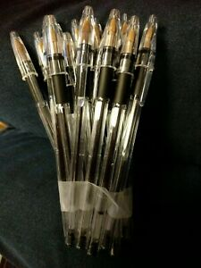 BIC Cristal Grip Ballpoint Pens Black Pack of 15 - Black