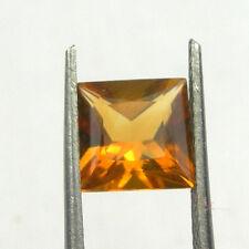 7x7mm Square Princess Cut Natural Orange Citrine Loose Gemstone, 1,35 carats