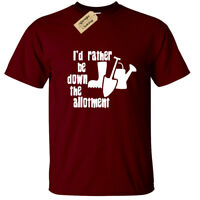 I'D RATHER BE DOWN THE ALLOTMENT T Shirt Mens Gift Gardening Gardener funny