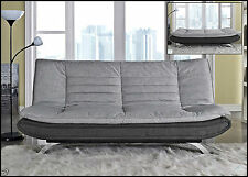 Modern Sofa Bed 3 Seater Padded Futon Contemporary Furniture Egg Shape Couch New