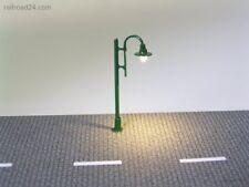 5x LED Strassenlaterne grün 50 mm Spur N