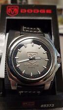 PRICE REDUCED! Vintage Embossed Dodge Mopar Ram Silver Faced Wrist Watch NOS NIB