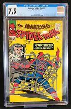 Amazing Spider-Man #25 CGC 7.5 VF- (Marvel 65) Ditko Lee, 1st Cameo Mary Jane