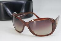 MINT Auth Salvatore Ferragamo Sunglasses Gancini Brown w/case Free Ship 675f15